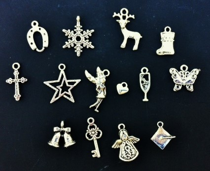 Charm choices for handwritten letter gift