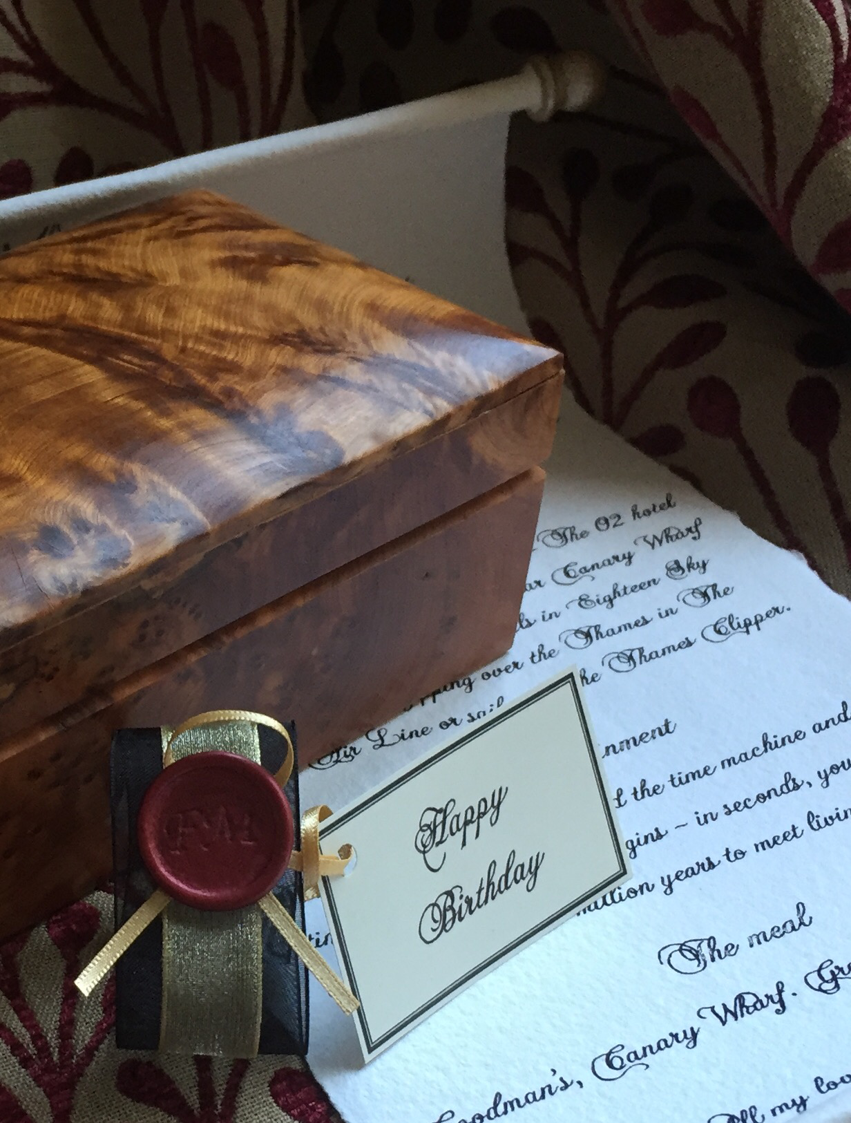 Handwritten letter gift scroll calligraphy