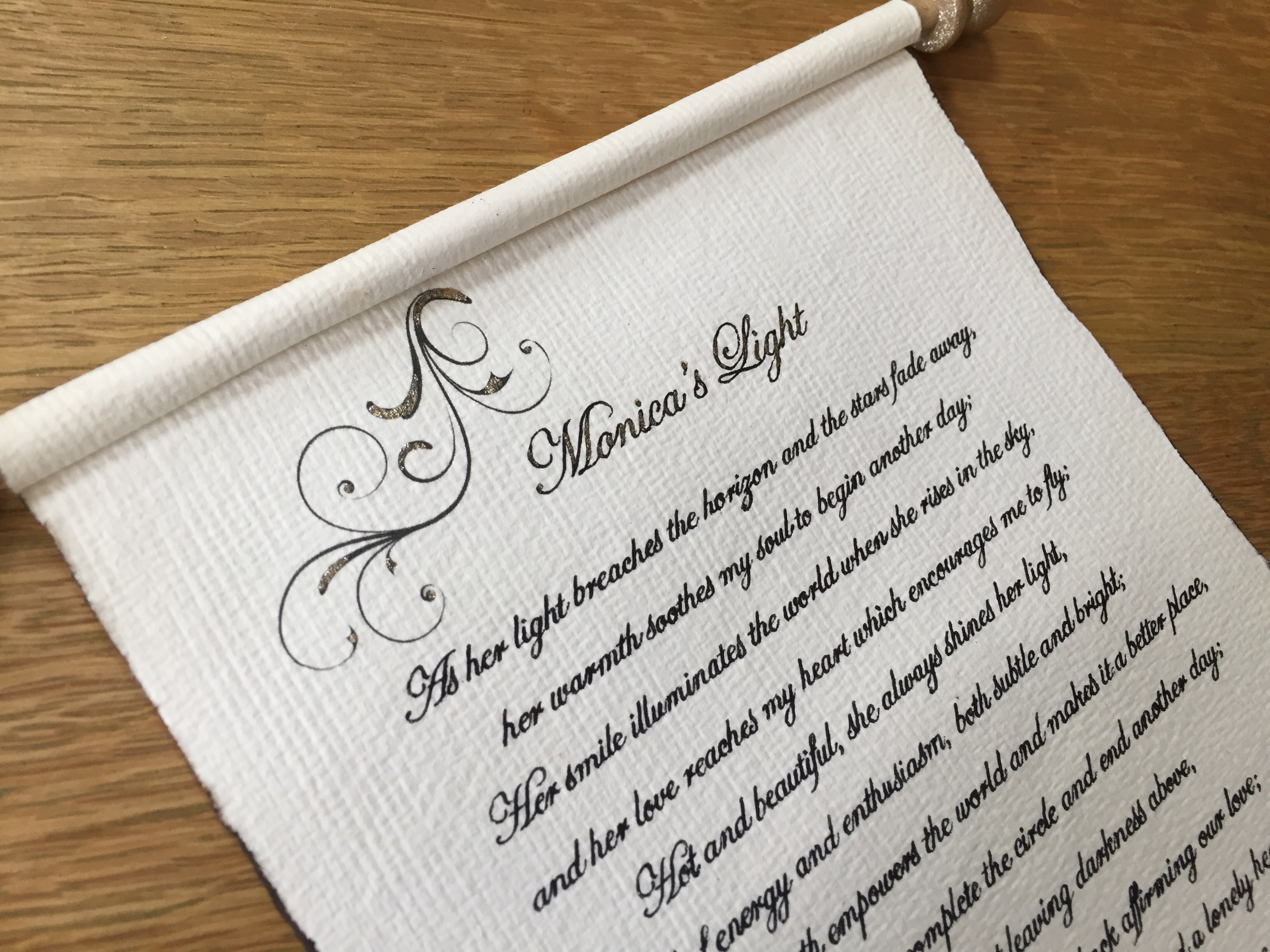 Handwritten letter gift with a choice of calligraphy font