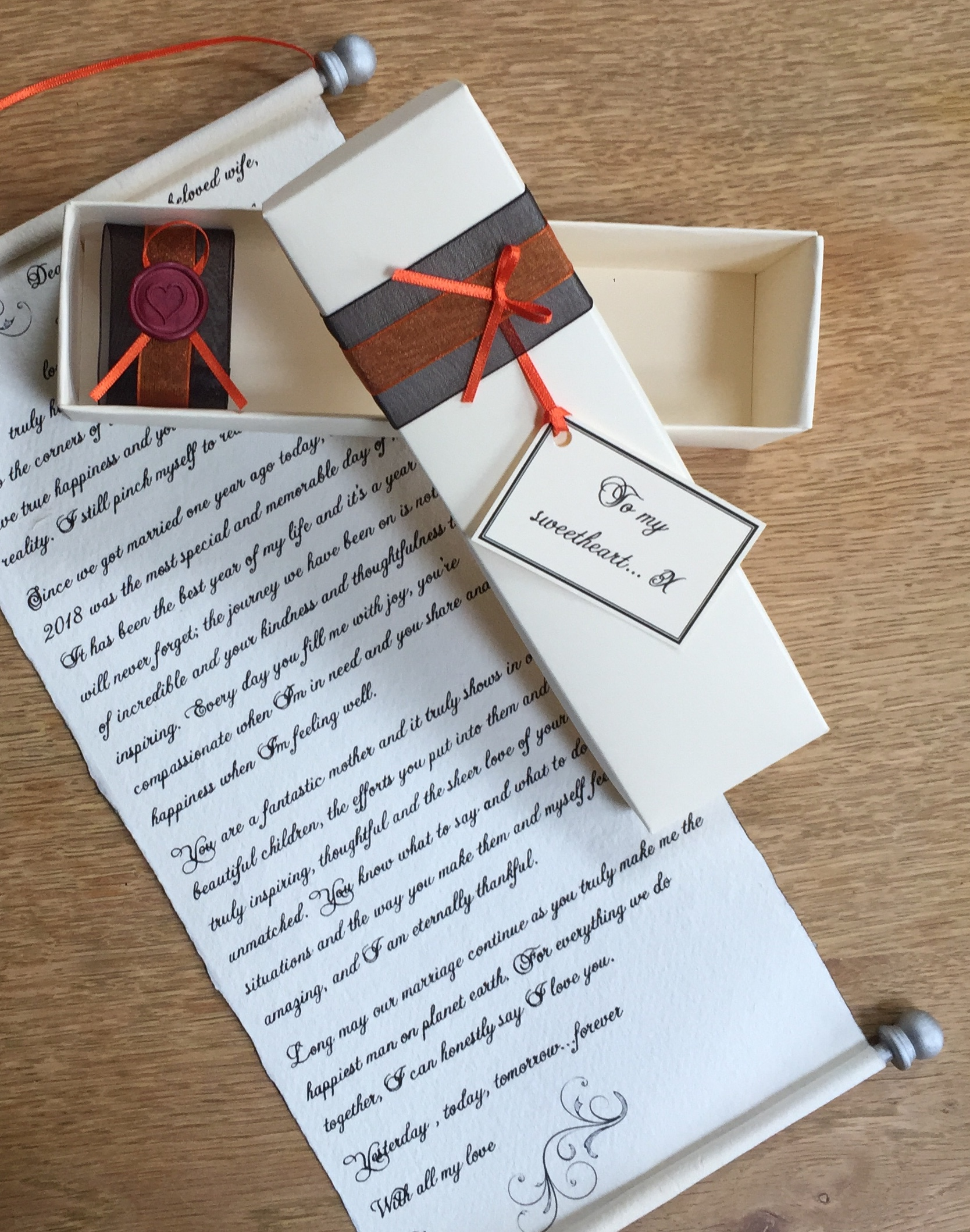 handwritten scroll